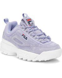 Fila - Disruptor Ii Womens Sweet Lavender Premium Suede Trainers - Lyst