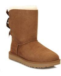 UGG - UGG Womens Chestnut Bailey Bow Ii Sheepskin Boots - Lyst