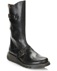 Fly London - Womens Black Mes 2 Leather Boots - Lyst