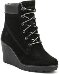 "Timberland - Paris Height 6"" Womens Black Wedges - Lyst"