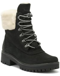 Timberland - Courmayeur Valley Womens Shearling Black Boots - Lyst