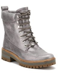 Timberland - Womens Dark Grey Courmayeur Valley Lace-up Boots - Lyst