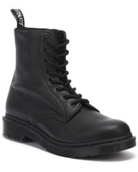 Dr. Martens - Dr. Martens 1460 Pascal Virginia Womens Mono Black Boots - Lyst