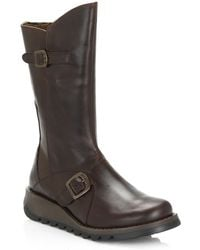 Fly London Womens Dark Brown Mes 2 Rug Boots