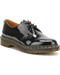 Dr. Martens | Dr. Martens Womens Black 1461 Patent Leather Shoes | Lyst