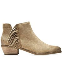 Cole Haan - Cole Haan Abbot Fringe Bootie Boots - Lyst