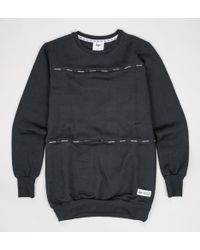 Hype - Men''s Taping C&s Crewneck Black Jumpers & Cardigans - Lyst