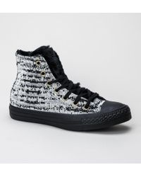 50458811c6ed Converse - 553361c Ct As Winter Knit Dolphin-egret-black Trainers - Lyst