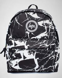 Hype - Backpack Black Marble Bags - Lyst