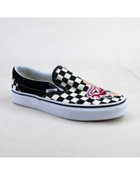 c8501ec54a Vans - Classic Slip-on Vn0a38f7u7o (satin Patchwork) Checker Trainers - Lyst