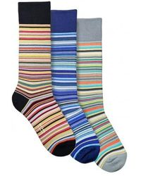 Paul Smith - 3 Pack Stripe Socks - Lyst