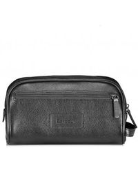 Barbour - Leather Washbag - Lyst