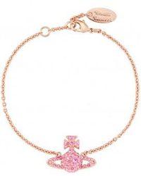 Vivienne Westwood - Grace Bas Relief Bracelet Light Peach - Lyst