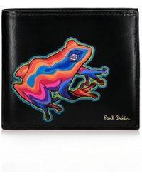 Paul Smith - 'Dreamer Frog' Print Billfold Leather Wallet - Lyst