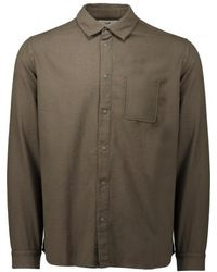 Folk | Flannel Pop Stud Shirt | Lyst