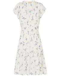 Rebecca Taylor - Sleeveless Francine Dress In Snow - Lyst