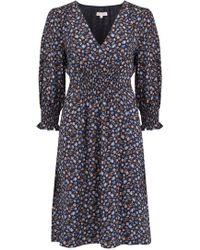 Rebecca Taylor - Zelma Floral Dress In Black Combo - Lyst