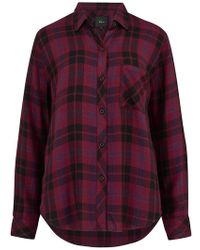 Rails Hunter Shirt In Wine, Navy And Black