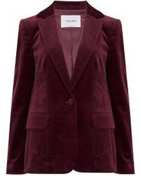 FRAME - Classic Velvet Blazer In Pinot - Lyst