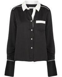 Equipment - Huntley Shirt In True Black - Lyst
