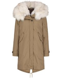 Woolrich - Literary Fox Eskimo Coat In Taupe - Lyst