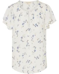 Rebecca Taylor - Sleeveless Francine Top In Snow - Lyst