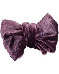 Mr Turk - Velvet Bow Tie - Lyst