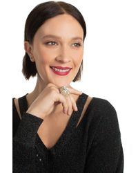 Trina Turk - Gold Crystal Ring - Lyst
