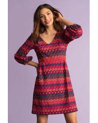 Trina Turk - Geometric-patterned Dress - Lyst