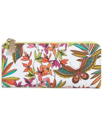 Trina Turk - Papillion Palm Zip Wallet - Lyst