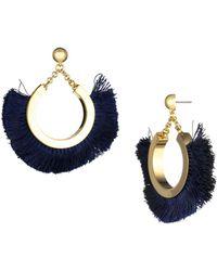 Trina Turk - Fringe Statement Earrings - Lyst