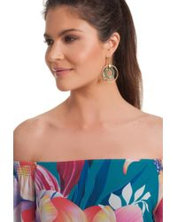 Trina Turk - Pacific Wave Ring Drop Earring - Lyst