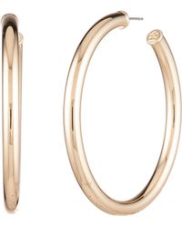Trina Turk - Brunching In Palm Springs Stone Metal Hoop Earring - Lyst