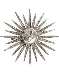 Trina Turk - Crystal Starburst Pin - Lyst