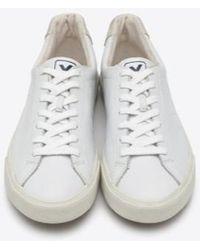 Veja Extra White Esplar Low Puxador Leather Ladies Trainers
