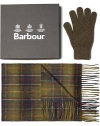 Barbour - Ensemble cadeau écharpe et gant classique - Lyst