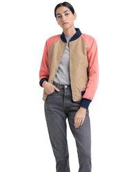 Herschel Supply Co. Khaki & Peach Varsity Jacket