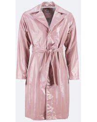 Rains - Woodrose Holographic Overcoat - Lyst