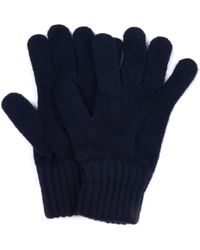 Barbour - Marine Lammwolle Handschuhe - Lyst