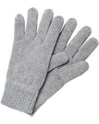 SELECTED Light Grey Melange Wool Glove - Gray