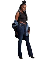 0e59e21e455f Lyst - True Religion Stealth Dana Wide Leg in Blue
