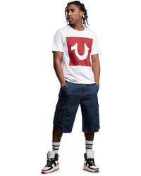 f7182632a True Religion - Cargo Denim Shorts - Lyst