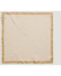 Bigi | Silk Dogtooth Check Pocket Square | Lyst