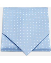 Turnbull & Asser - Sky Blue And White Medium Spot Silk Ascot Tie - Lyst
