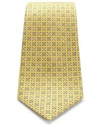 1e4a0c0aae91 Turnbull & Asser Overlapping Multi Square Yellow And Blue Silk Tie ...