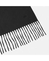 Turnbull & Asser - Monogrammed Black Pure Cashmere Scarf - Lyst