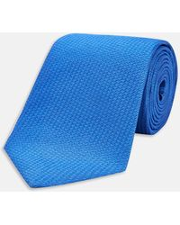 Turnbull & Asser - Royal Blue Lace Silk Tie - Lyst