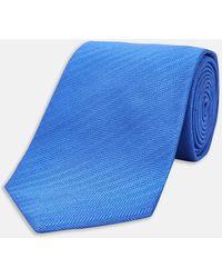 Turnbull & Asser - Royal Blue Herringbone Silk Tie - Lyst