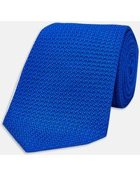 Turnbull & Asser - Royal Blue Grenadine Silk Tie - Lyst