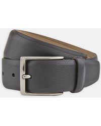 Turnbull & Asser - Black Grained Leather Belt - Lyst